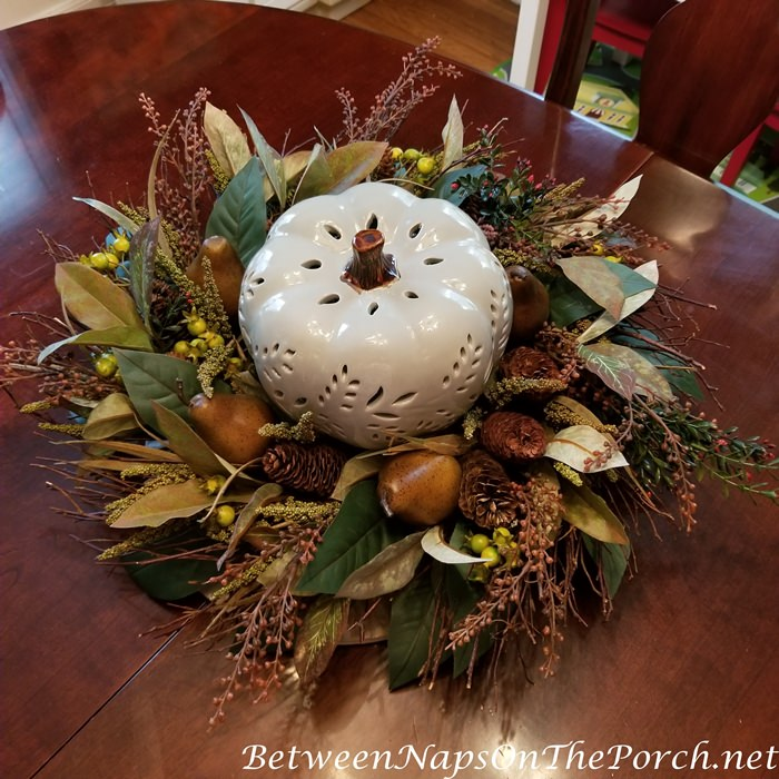 Pumpkin Wreath Fall Centerpiece