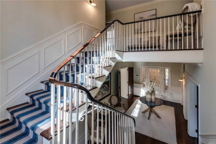 Striped Runner for Staircase, Nautical Feel