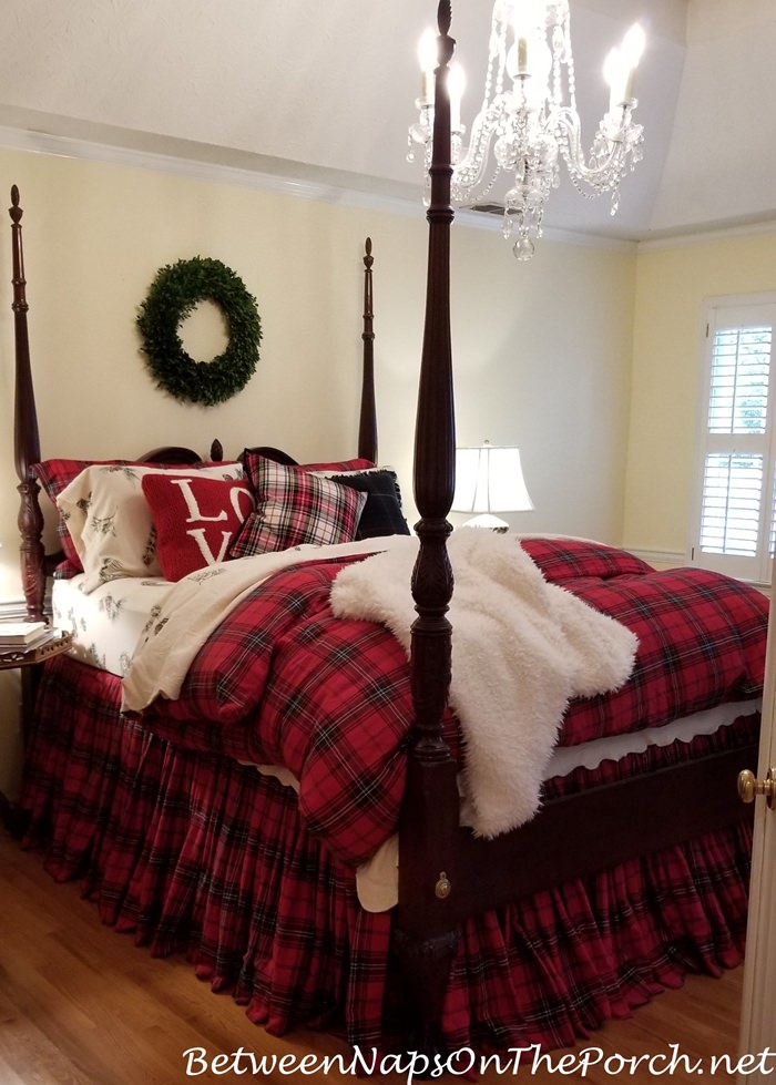 Tartan Red & Green Bedding