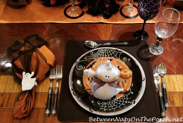 Whimsical Halloween Table Setting