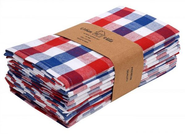Buffalo Plaid Napkins, Red, White and Blue