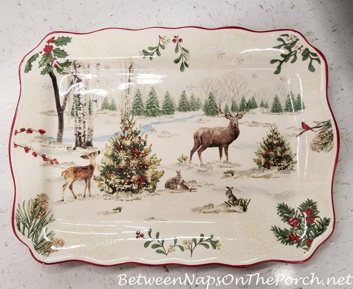 Christmas Platter, Woodland Animals