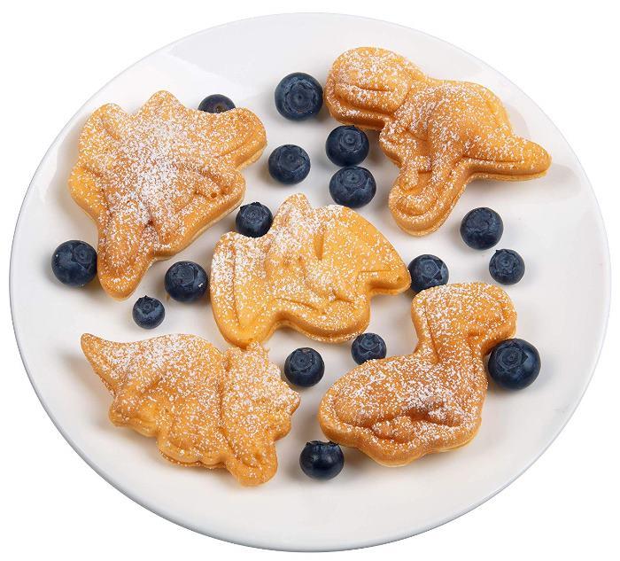 Dinosaur shaped Pancakes and Waffles