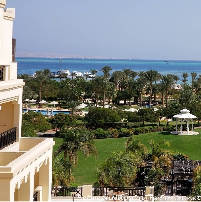 My view of the Red Sea from the Steigenberger Aldau Beach Resort
