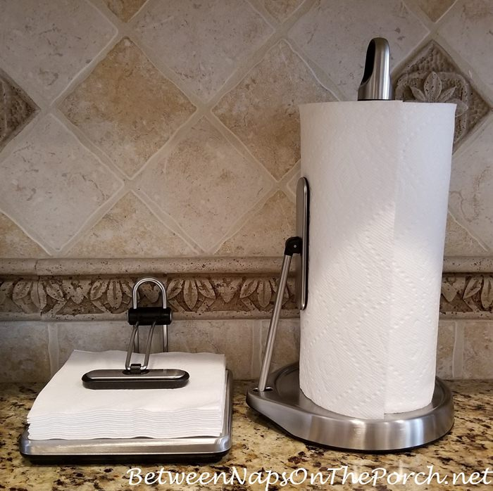 Simple Human Paper Towel Holder and Napkin Holder