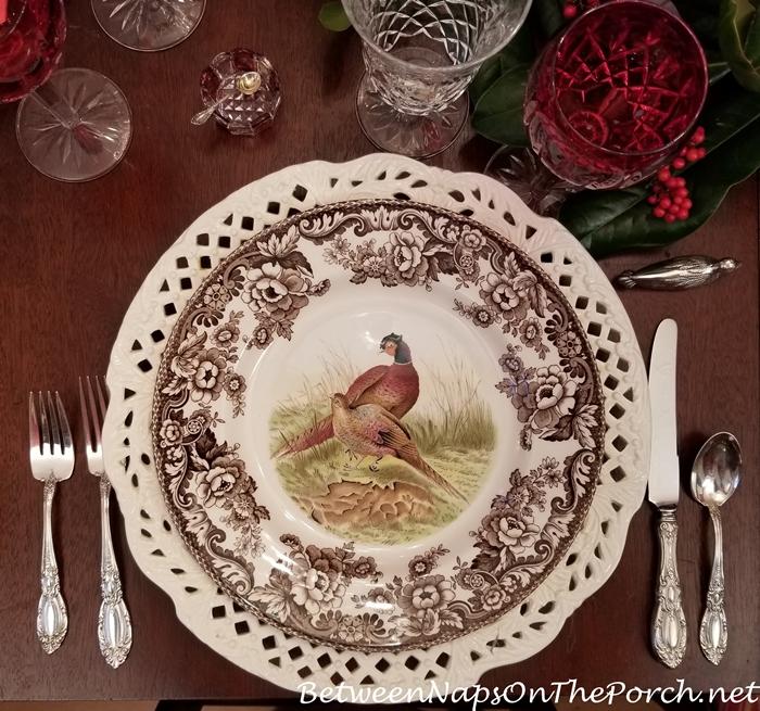 Spode Woodland, Pheasant Dinner Plate