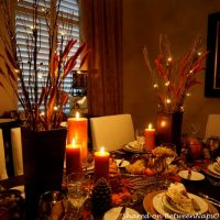 Thanksgiving Table Setting by Candlelight