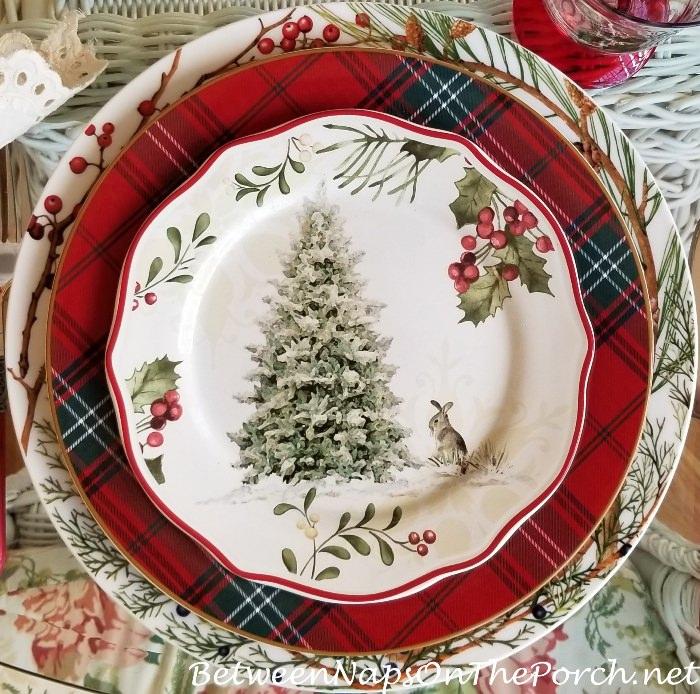 Bunny & Christmas Tree, Christmas Plates