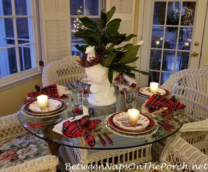 Candlelit Christmas Table Setting, 2019