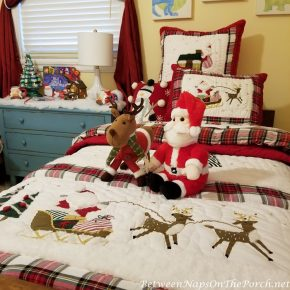 Christmas Bedding Makeover, Childs Bedroom