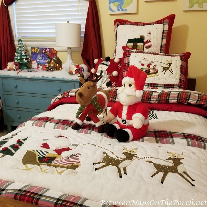 Christmas Bedding Makeover, Childs Bedroom