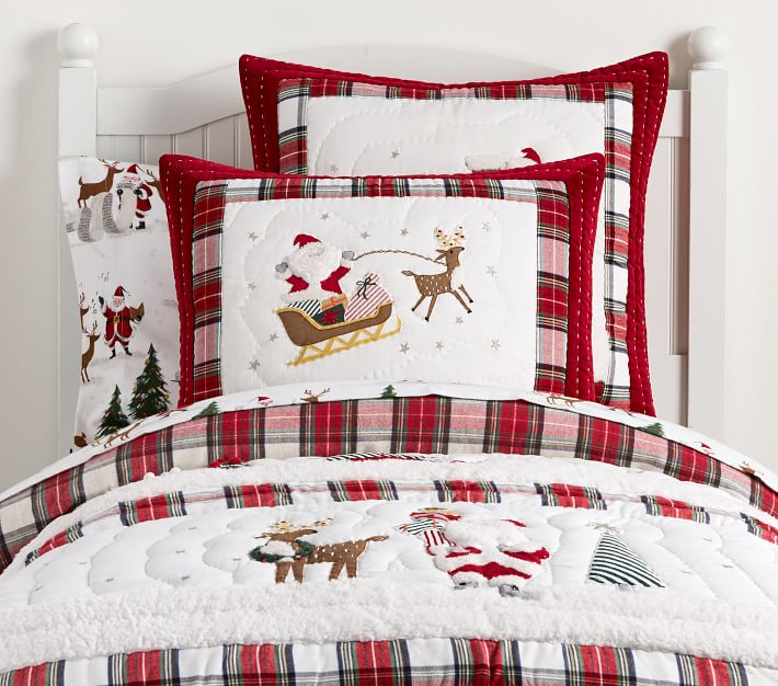 Christmas Bedding, Merry Santa