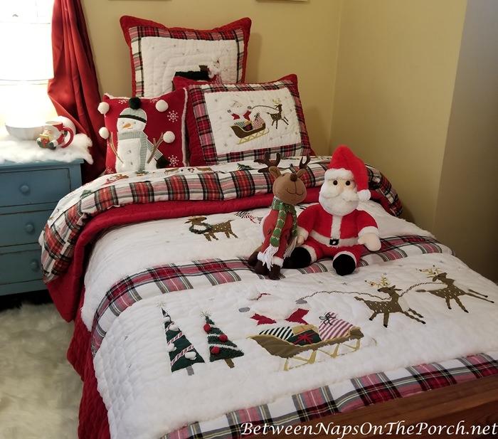 Christmas Bedding with Santa and Reindeer