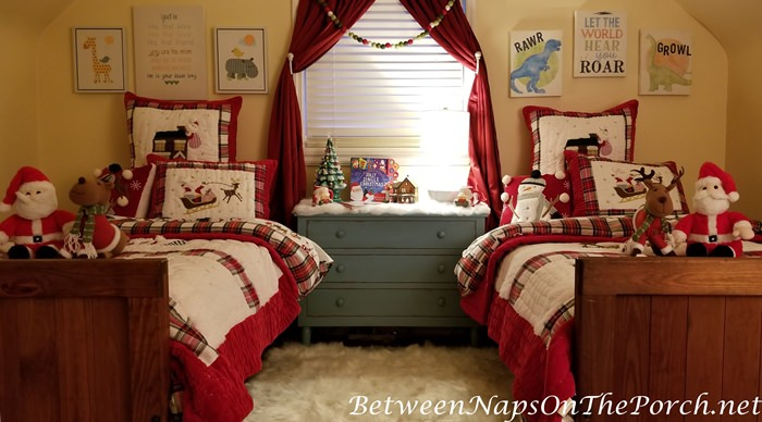 Christmas Bedroom Makeover, Evening Time