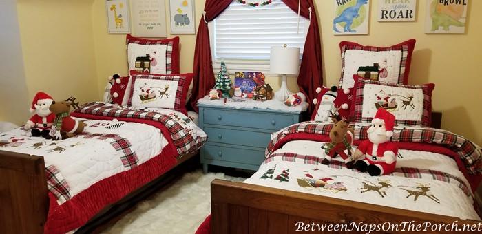 Christmas Bedroom Makeover