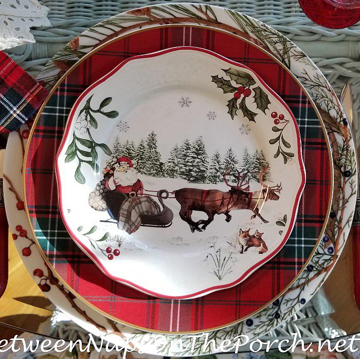 Christmas Charger, Christmas China