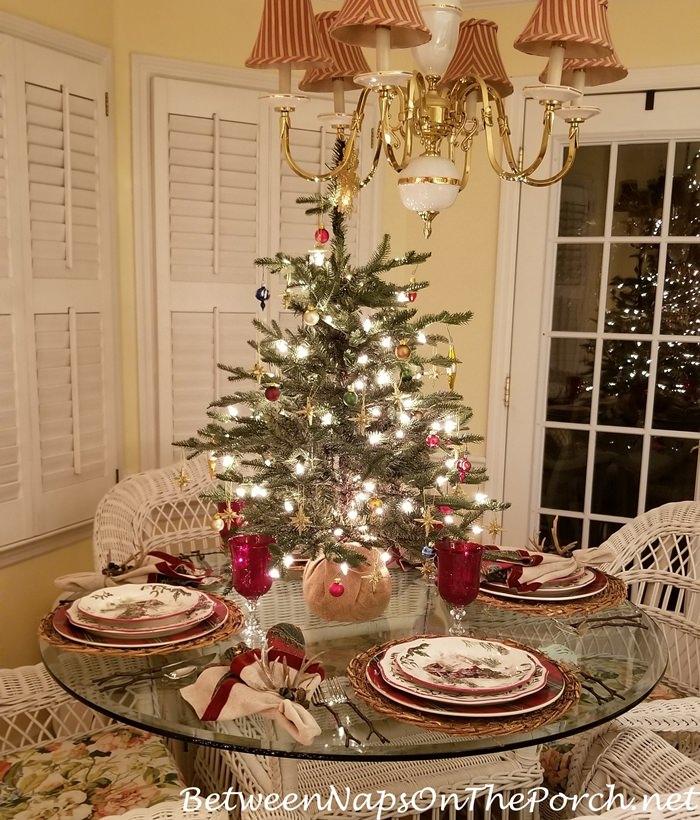 Christmas Table Setting, Better Homes & Gardens Train Christmas Plates