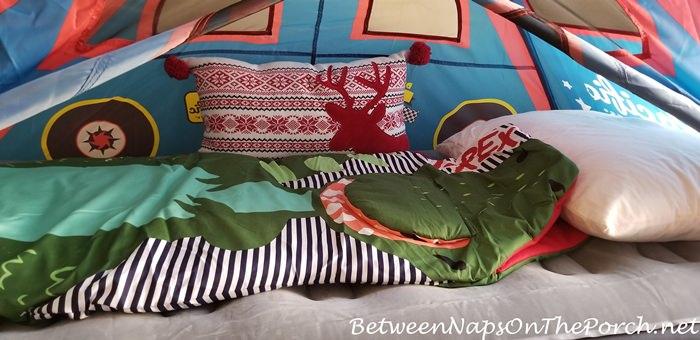 Dinosaur Sleeping Bag for Overnight Stay