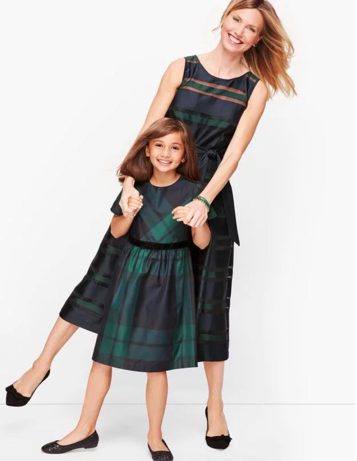Matching Child's Dress for Christmas