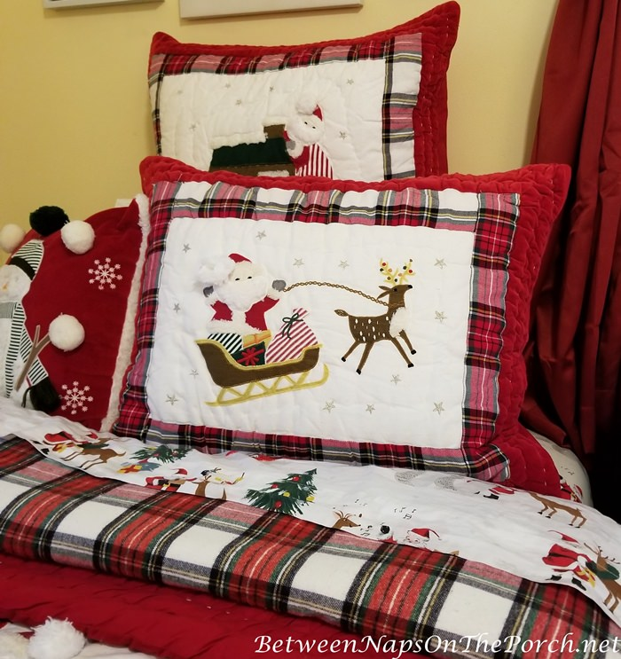 Plaid Duvet for Christmas