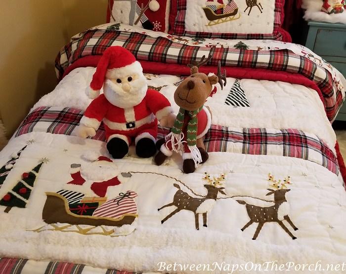 Santa Reindeer Bedding