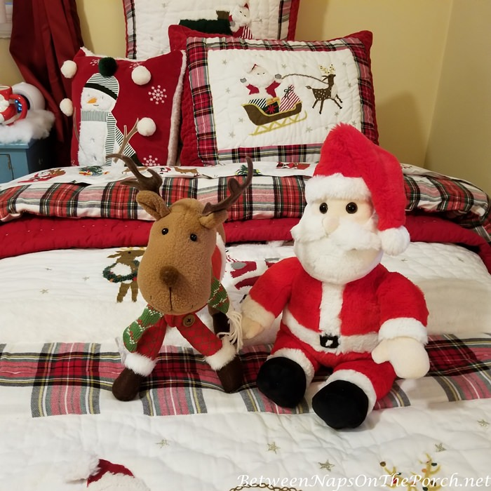 Santa and Reindeer Stuffed Toy