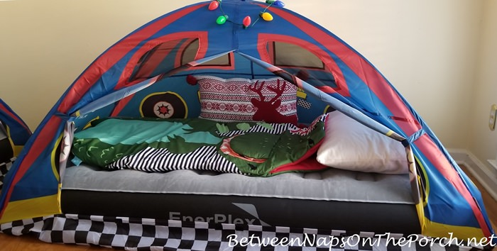 Sleeping Tents for Visiting Grandchildren at Christmas