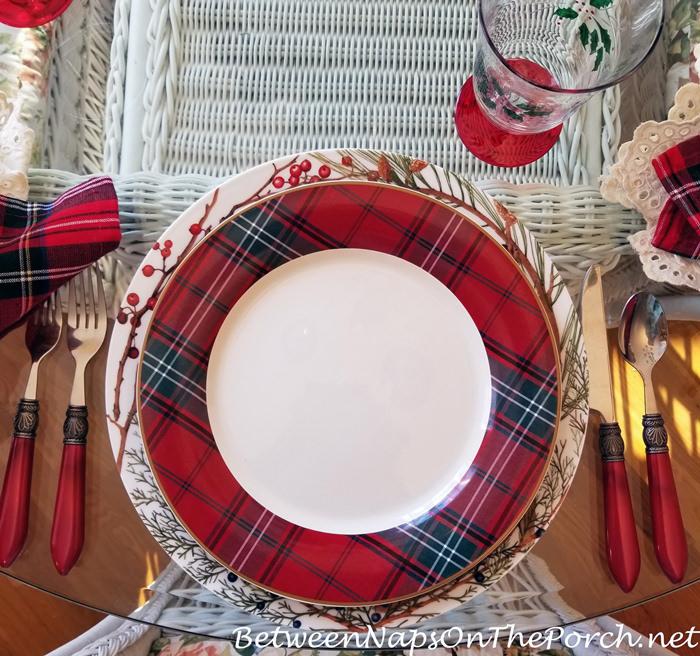 Tartan Charger for Christmas Table Setting