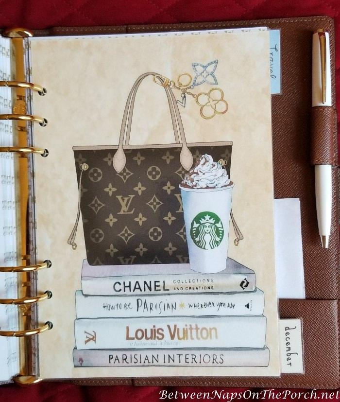 Agenda Dashboard with Louis Vuitton Theme