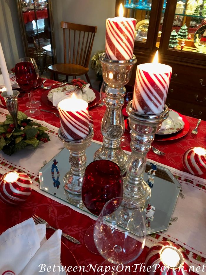 Christmas Candy Cane Table Setting Ideas