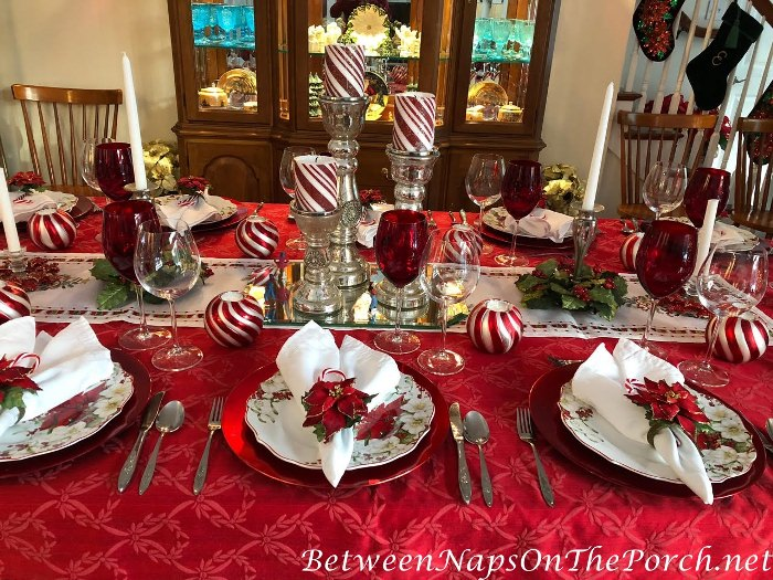 Christmas Table, Candy Cane Theme