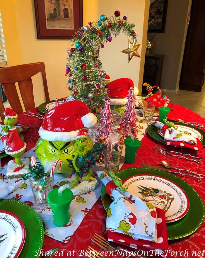 Christmas Table Ideas for Kids, How Grinch Stole Christmas Table