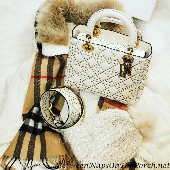 Dior Lady Dior Studded Supple Leather Handbag