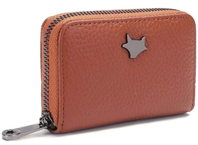 Fox Wallet, Leather Compact Wallet