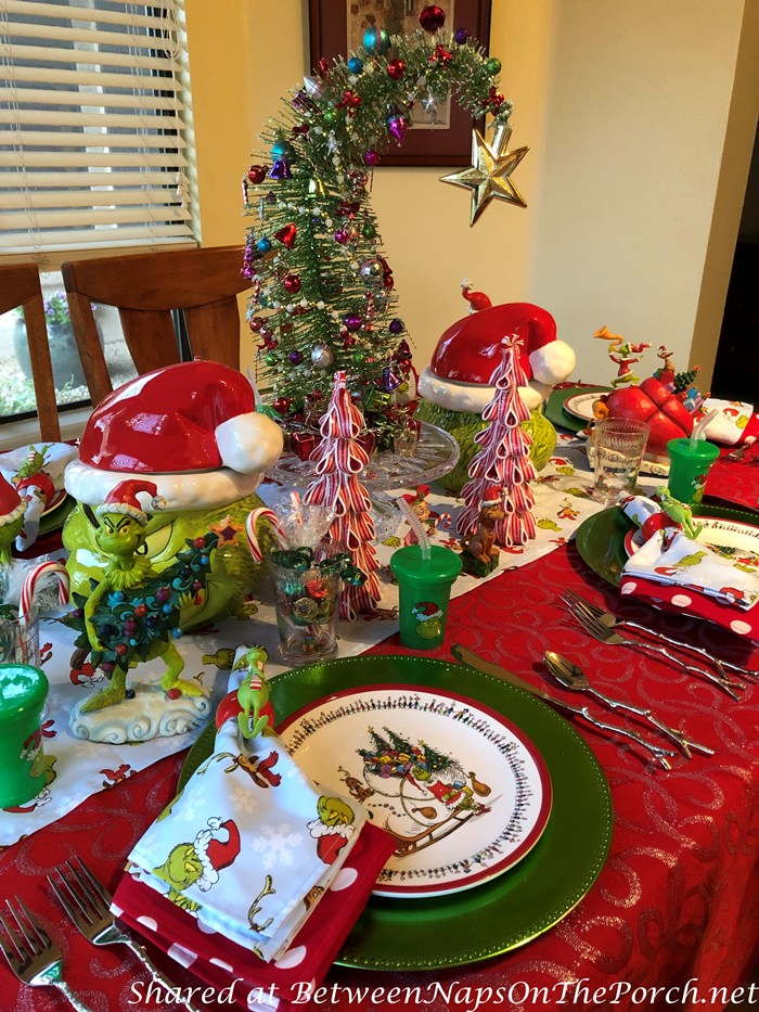 How the Grinch Stole Christmas Themed Table Setting