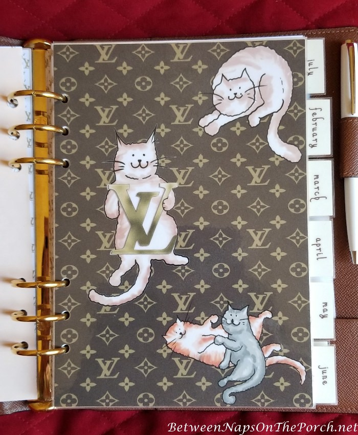 Louis Vuitton Inspired Agenda Cover