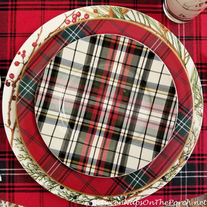 Plaid Salad Plates
