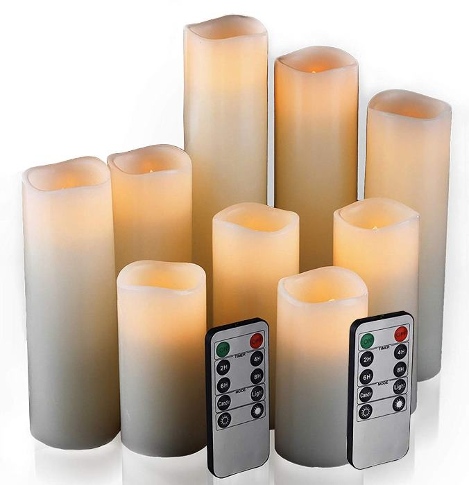 Real Wax Faux Candles that Look Real
