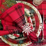 A Snowy, Winter Themed Tablescape in Tartan