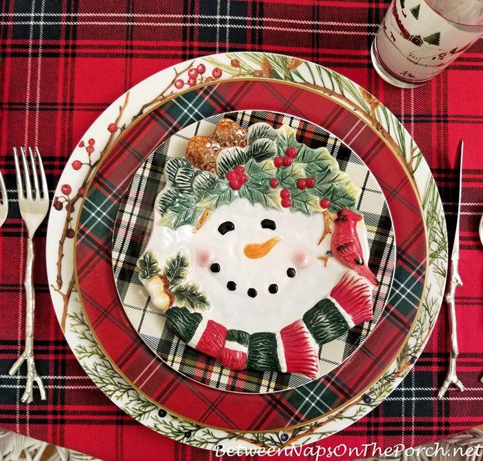 Snowman Appetizer Plate