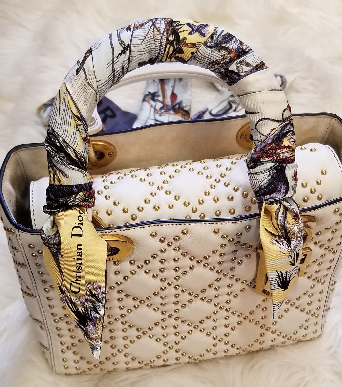 Studded Lady Dior with Twilly