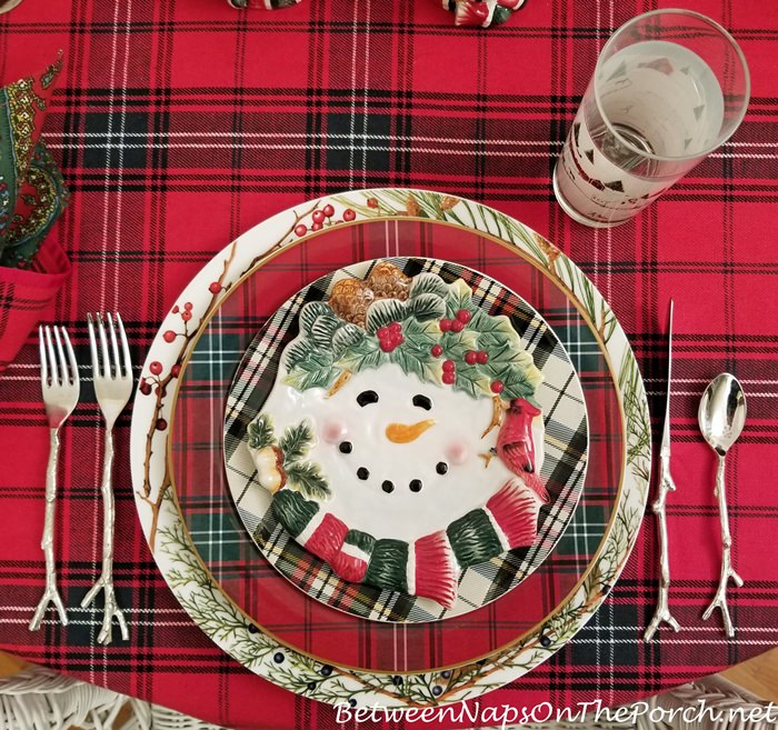 Tartan Table with Tartan Dinnerware