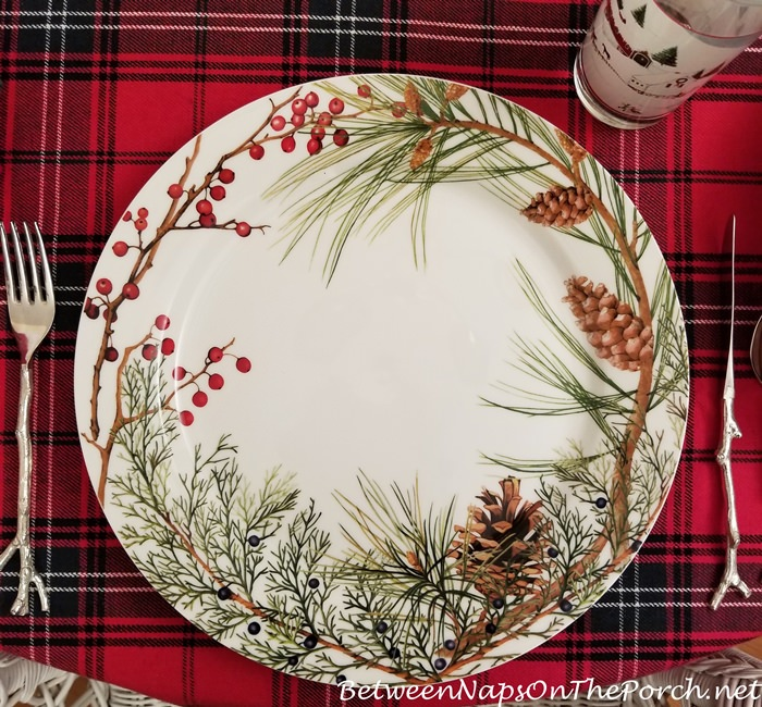 Woodland Berry Charger in Tartan Table Setting