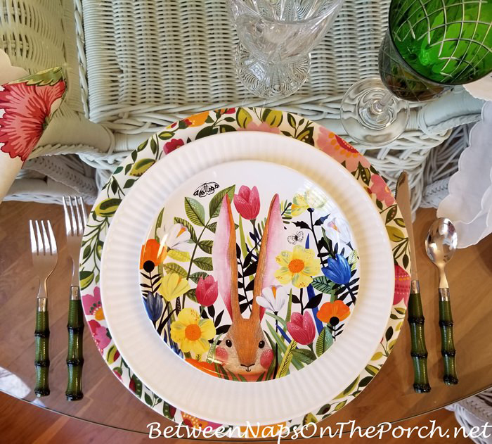 Bunny Garden Salad Plates, Great for Easter and spring