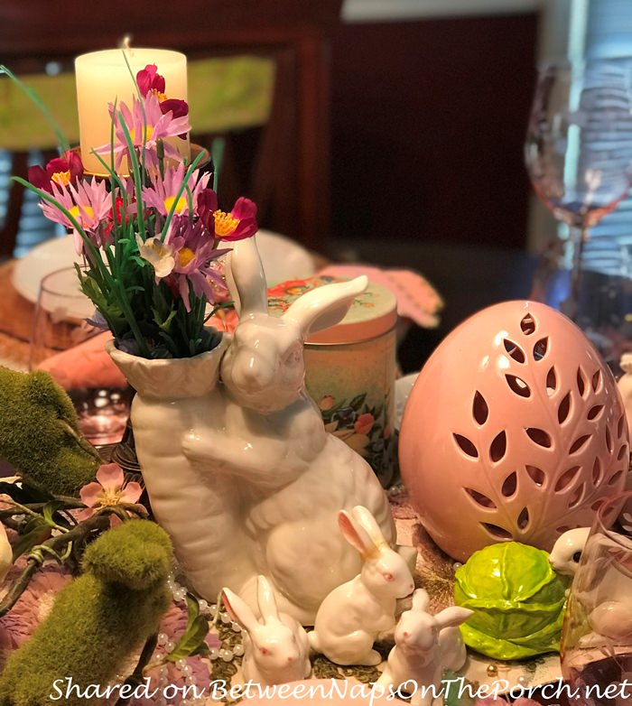 Bunny Vase, Easter Decorations