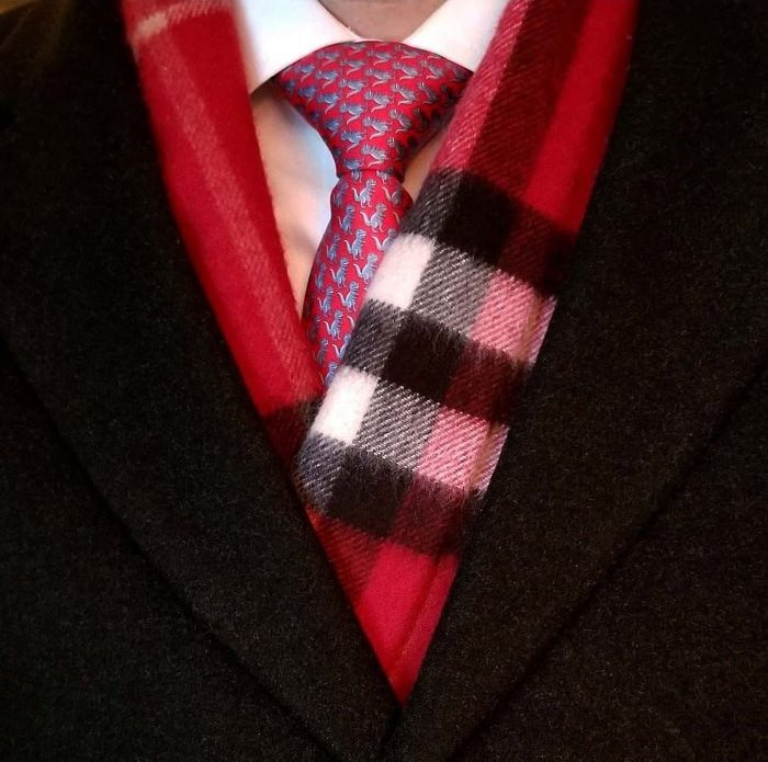 Burberry Scarf, Red House Check