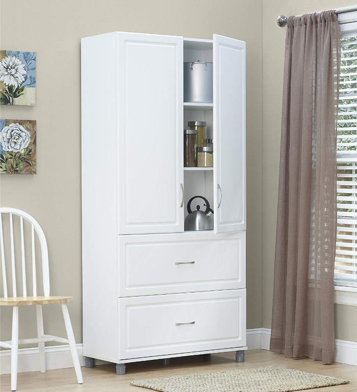 Cabinet with Shelves and Drawers