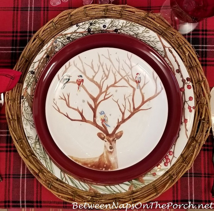 Deer Plate in Valentine's Day Table