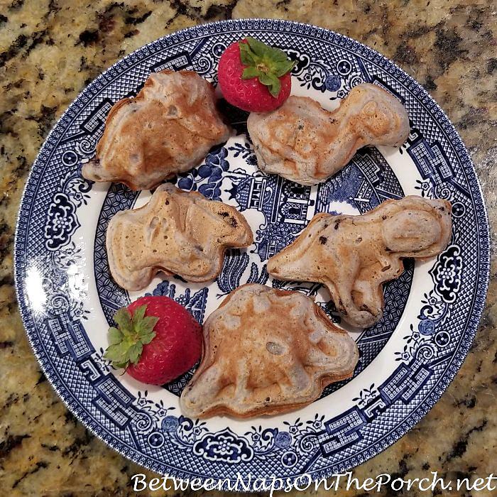 Dinosaur Blueberry Pancakes