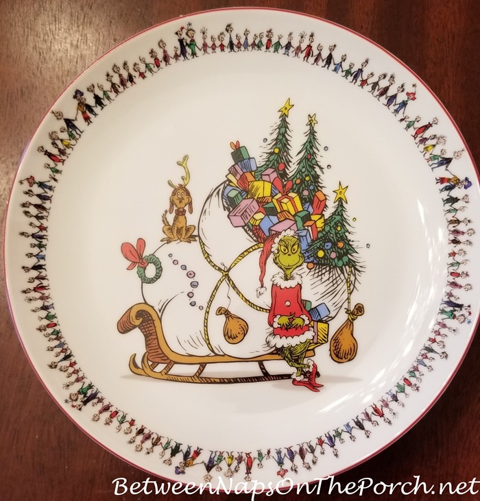 Grinch Stole Christmas Plates